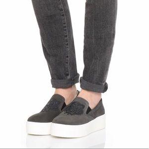 KENZO LION suede skate platform sneakers sz 9